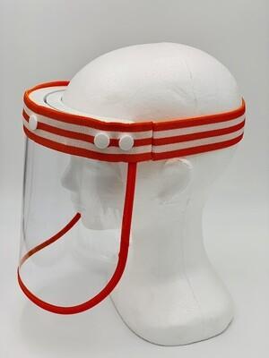 Premium Face Shield - Orange & White