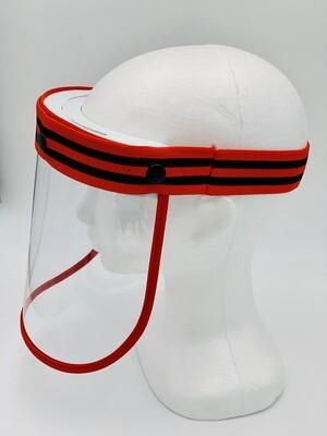 Premium Face Shield - Red & Black