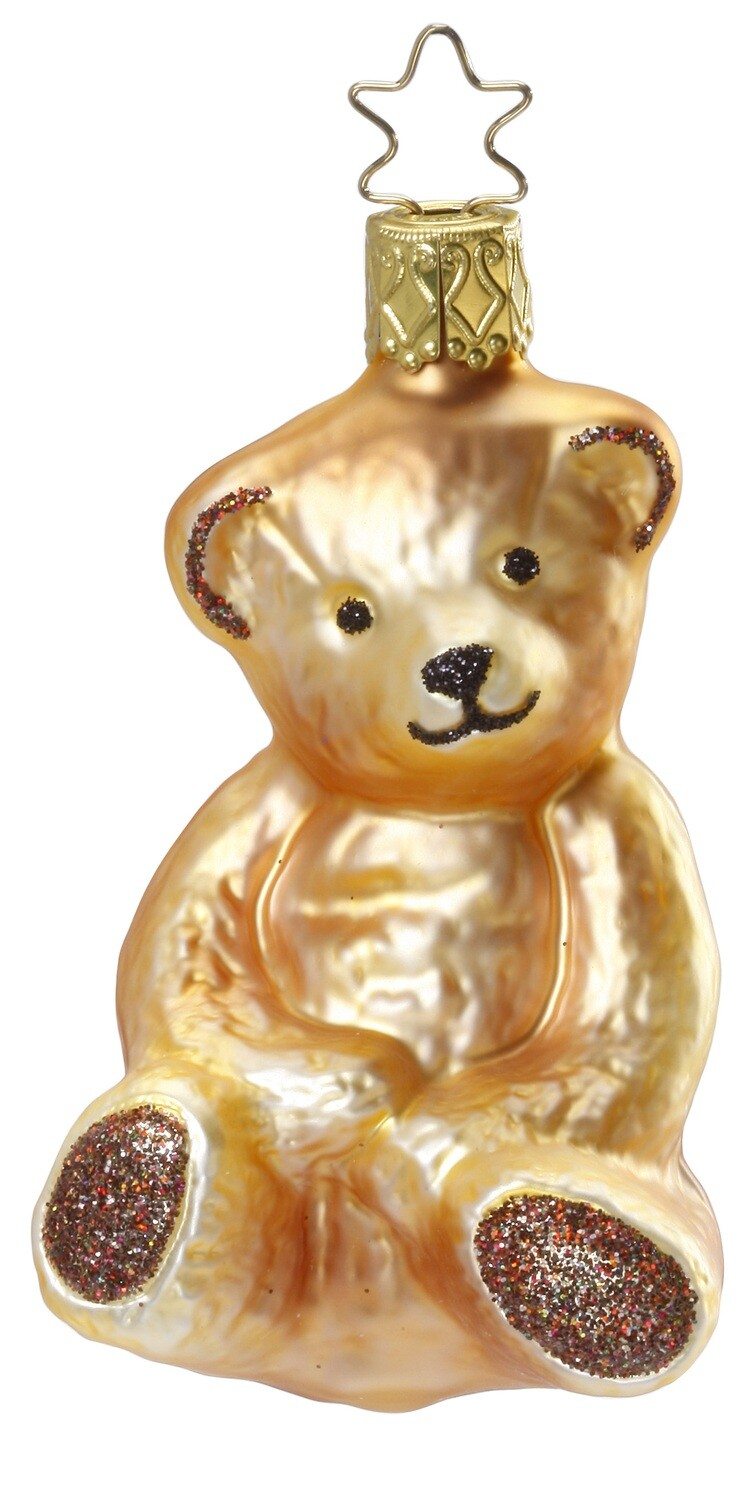 Sm Brown Bear w/brown glitter 'My Buddy Teddy'
