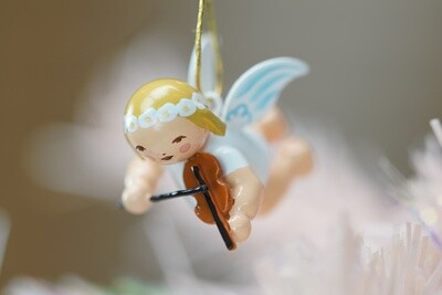 Tiny Suspended Angel w/violin