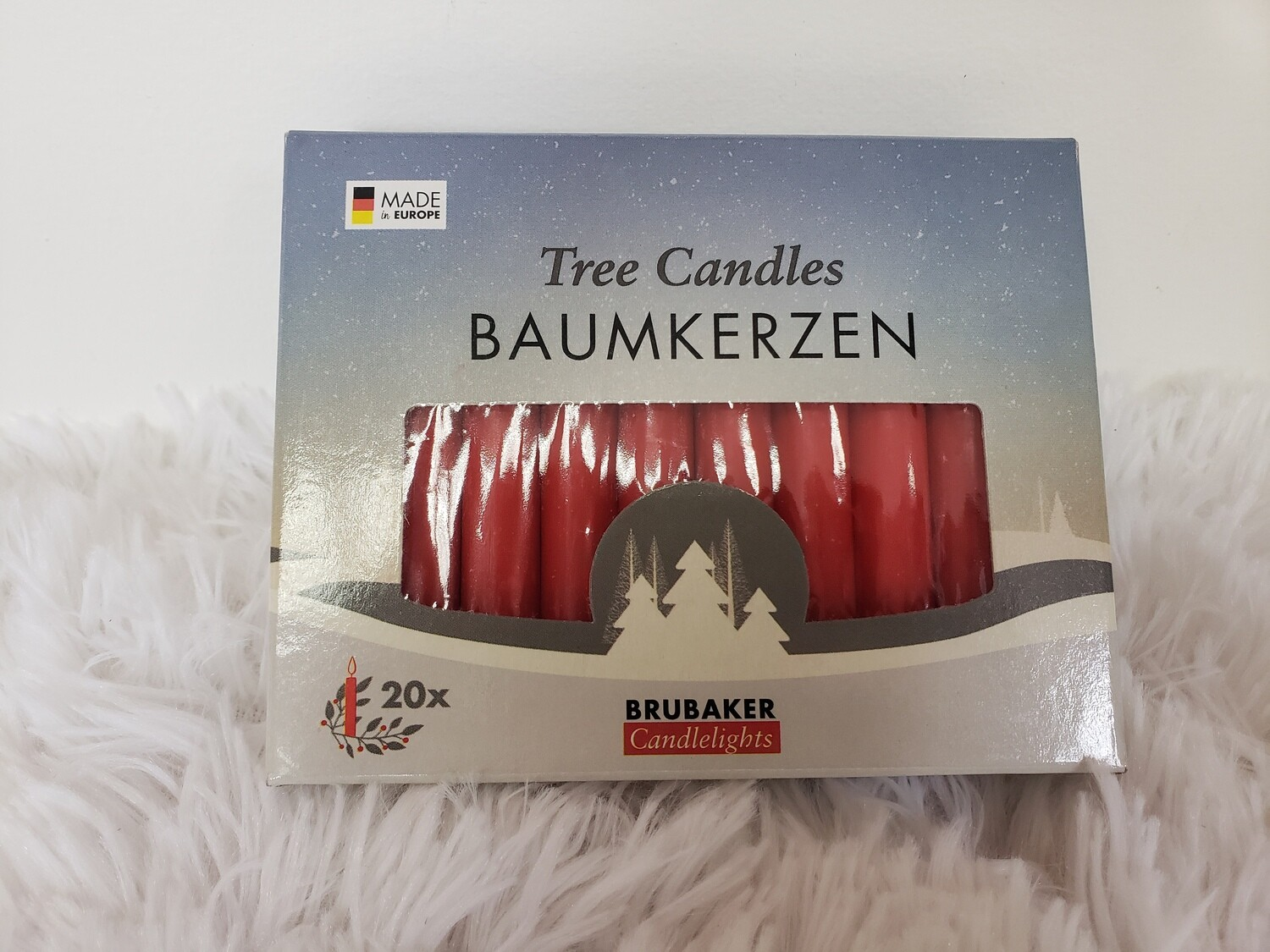 Marroon candles 20 pack