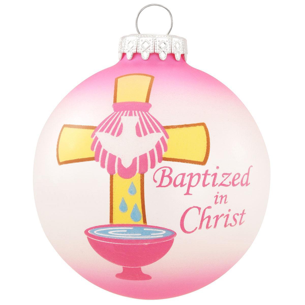 BR 7757 BAPTIZED PINK CROSS