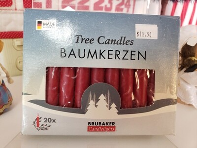 Red candles - 20 pack