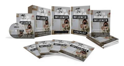 How To Become An Influencer eBook & Video Course w/Resell Rights