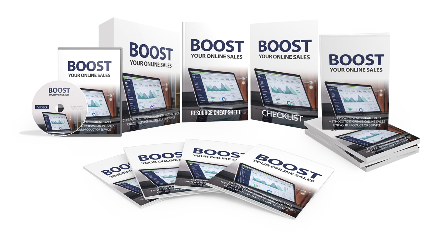 Boost Your Online Sales eBook & Video Course w/Resell Rights