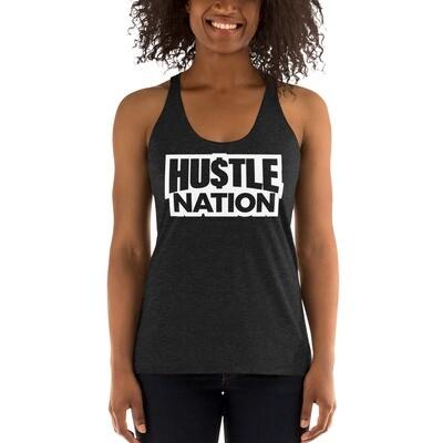 Women's Racerback Hustle Nation Tank