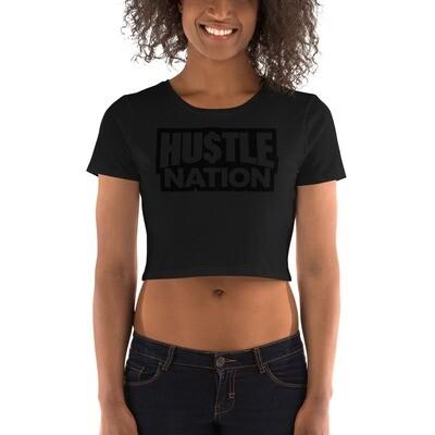 Women's Hustle Nation Crop Tee