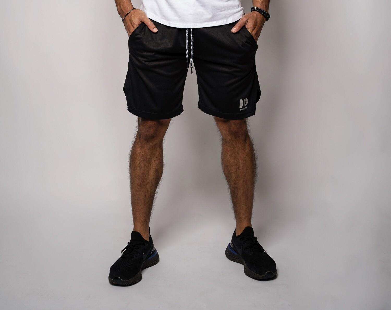 "DUAL    Black 9"" Shorts"