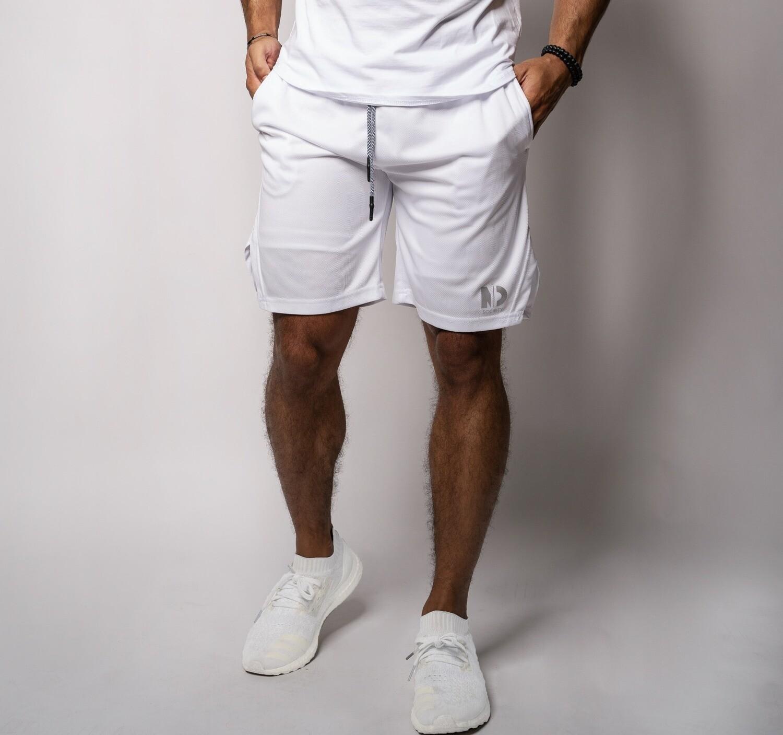 "DUAL |  White 9"" Shorts"