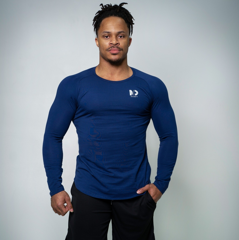 MINDSET | Blue Long Sleeve T-Shirt