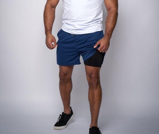 "DUAL | Blue 5"" Shorts"