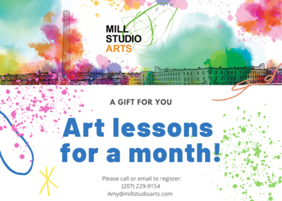 Art Lessons Gift Card