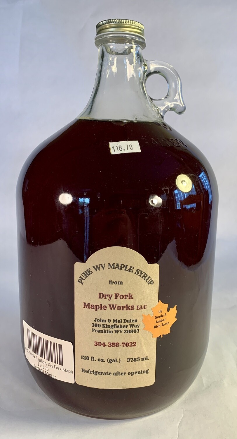syrup, maple; 1 gallon; Dry Fork Maple