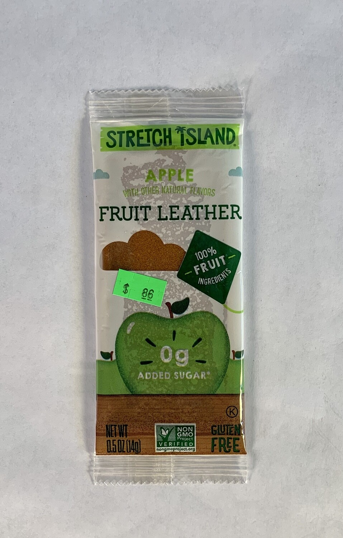fruit leather, apple; each; Stretch Island