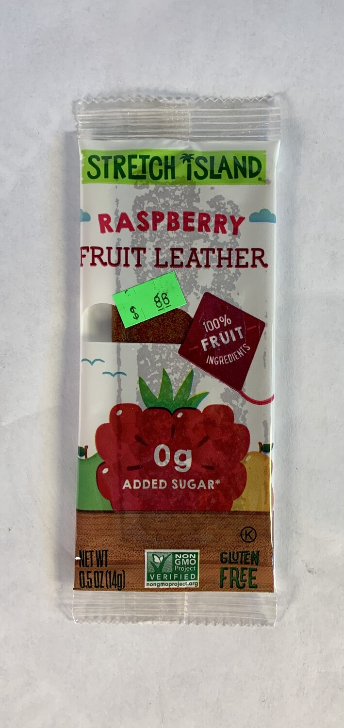 fruit leather, raspberry; each; Stretch Island