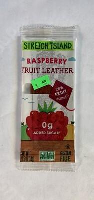 fruit leather, raspberry; each; Stretch Island
