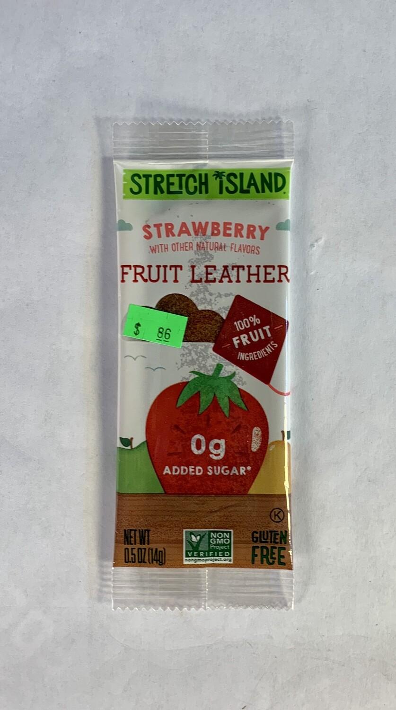 fruit leather, strawberry; each; Stretch Island