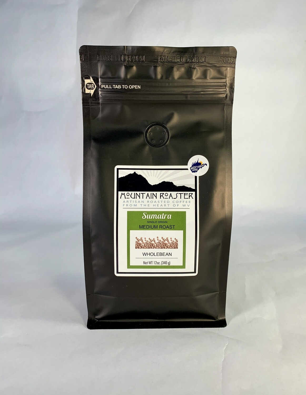 coffee, Sumatra, 12 ounce; each; Mountain Roasters