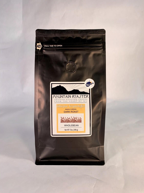 coffee, Ethiopia Yergacheffee, 12 ounce; each; Mountain Roasters