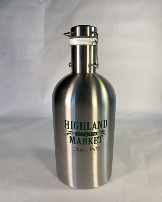 growler, empty metal, 64 ounce; each