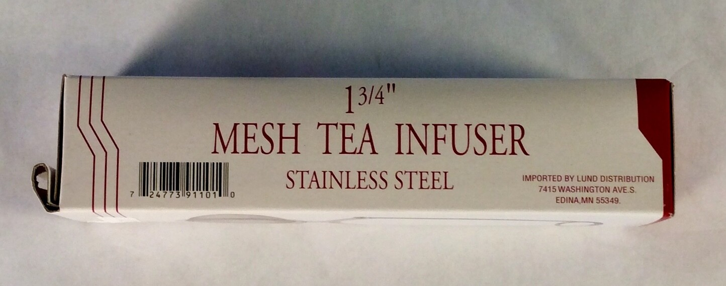 tea infuser, mesh, with handle 1.75 inch; each