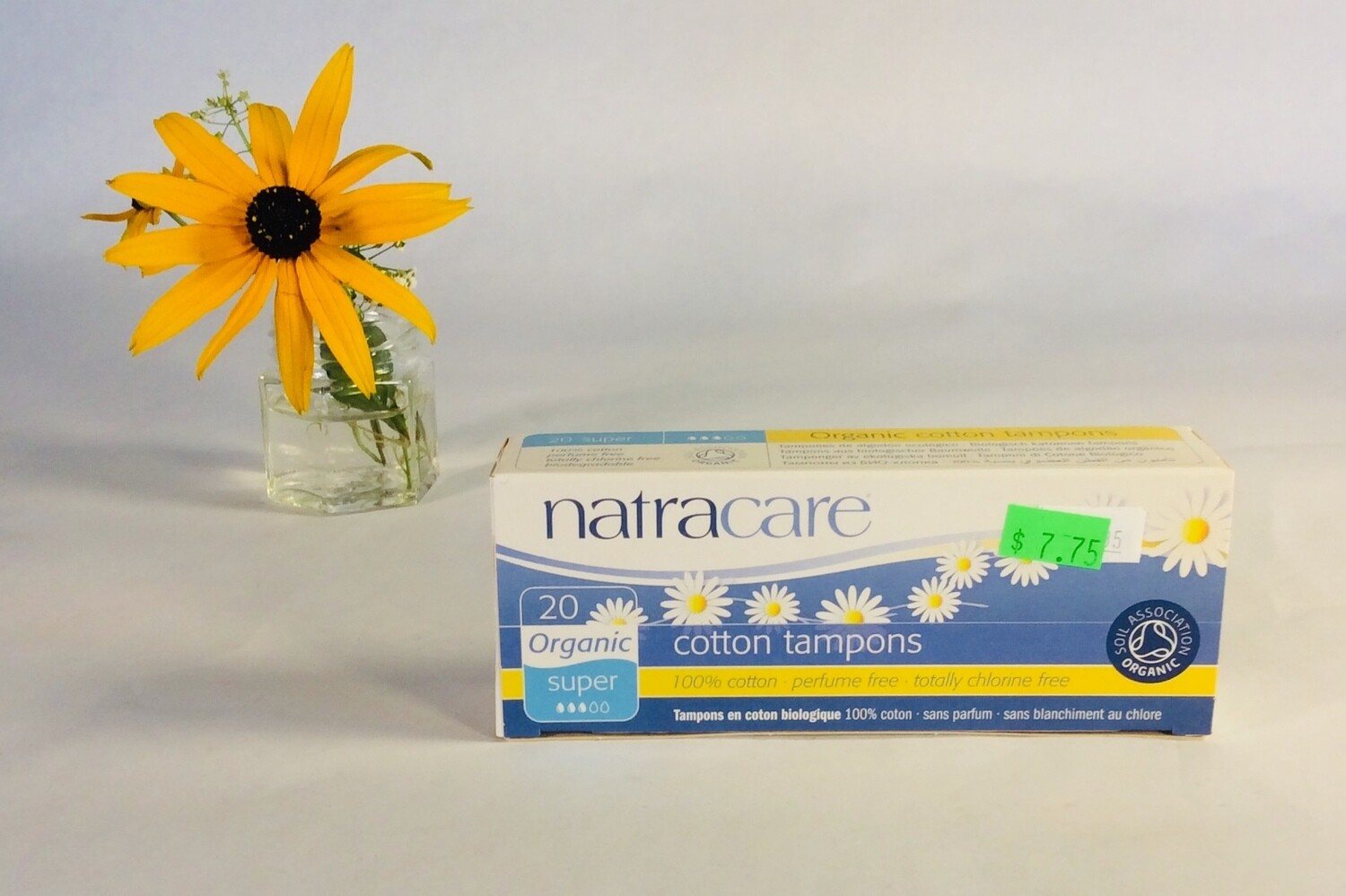 tampons, super, 20 pack; each; Natracare