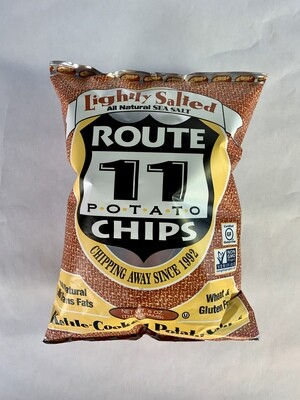 chips, lightly salted; 6oz each; Route 11