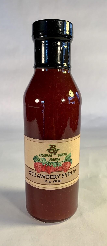 syrup, strawberry; each; Buena Vista