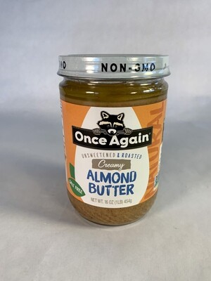 almond butter, creamy, organic; 16oz; Once Again