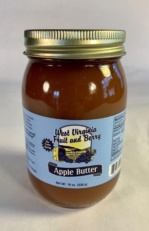 preserves, apple butter, 19 ounce; each; WV Fruit & Berry