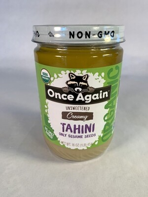 tahini, organic; each; Once Again