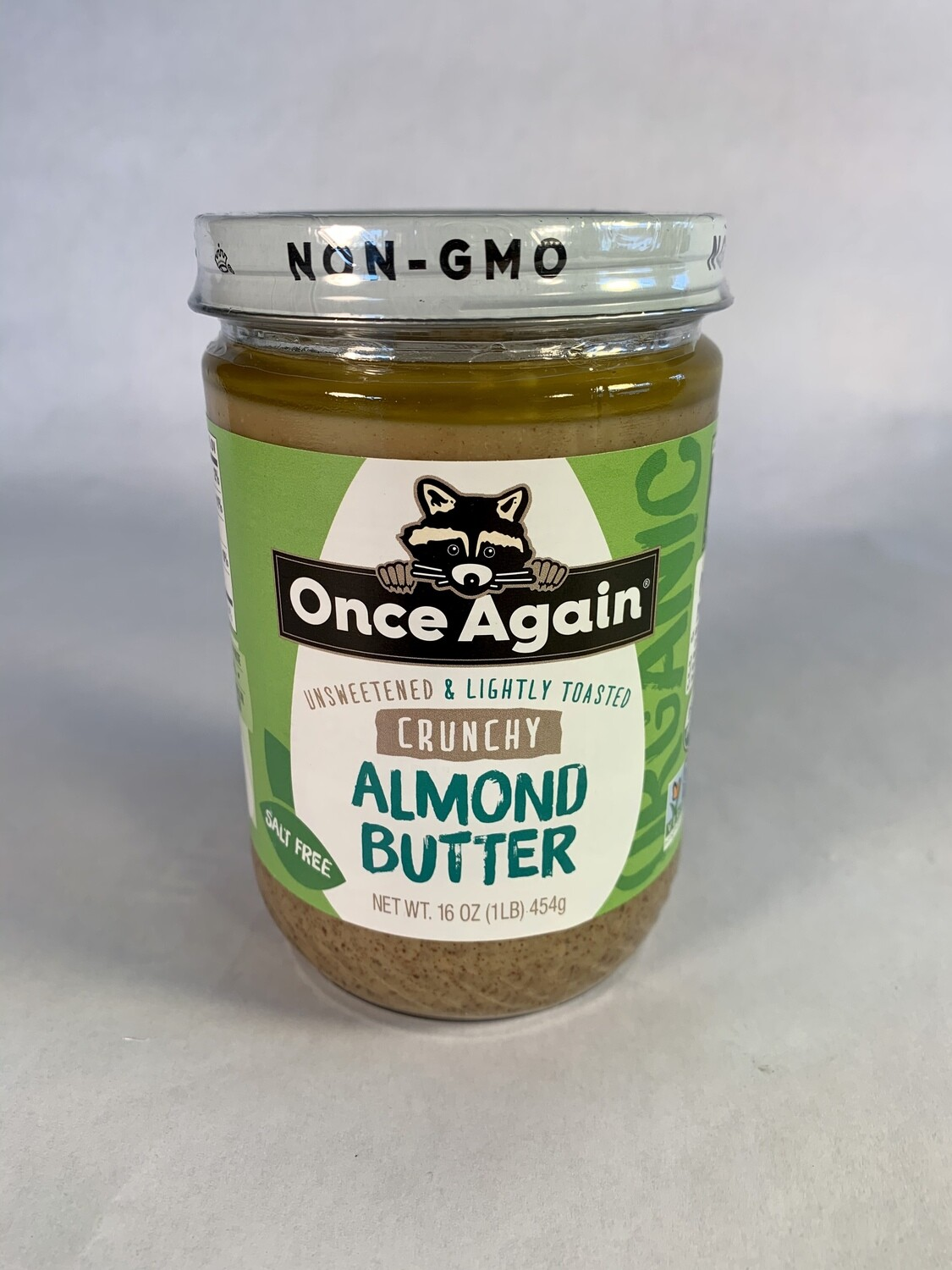 almond butter, crunchy,lightly salted  organic; each; Once Again