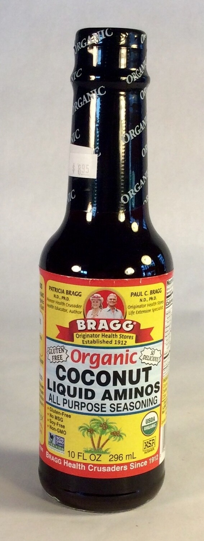 aminos, coconut, organic, 10 ounce; each; Bragg's