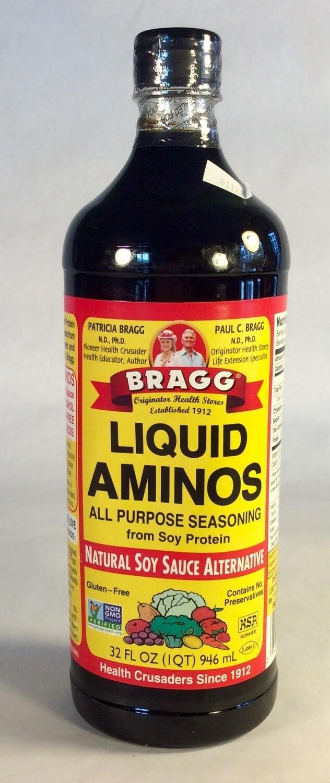 liquid aminos, 32 ounce; each; Braggs
