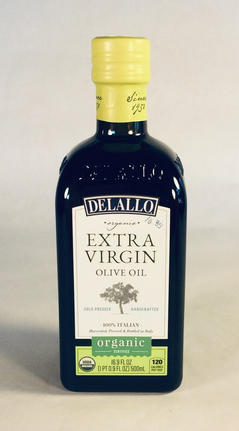 oil, olive, organic; 16.9 ounce; Delallo