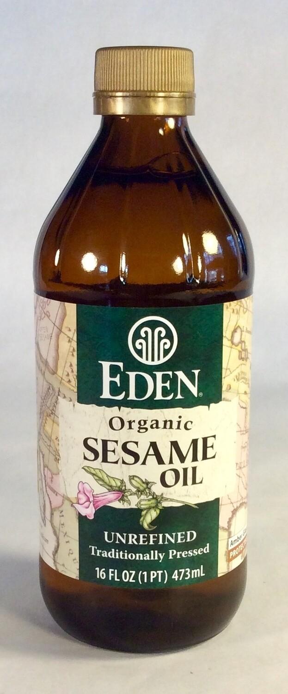 oil, sesame, organic, unrefined; 16oz; Eden