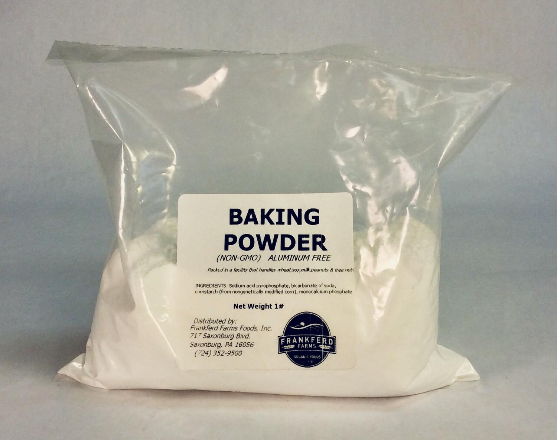 baking powder; each