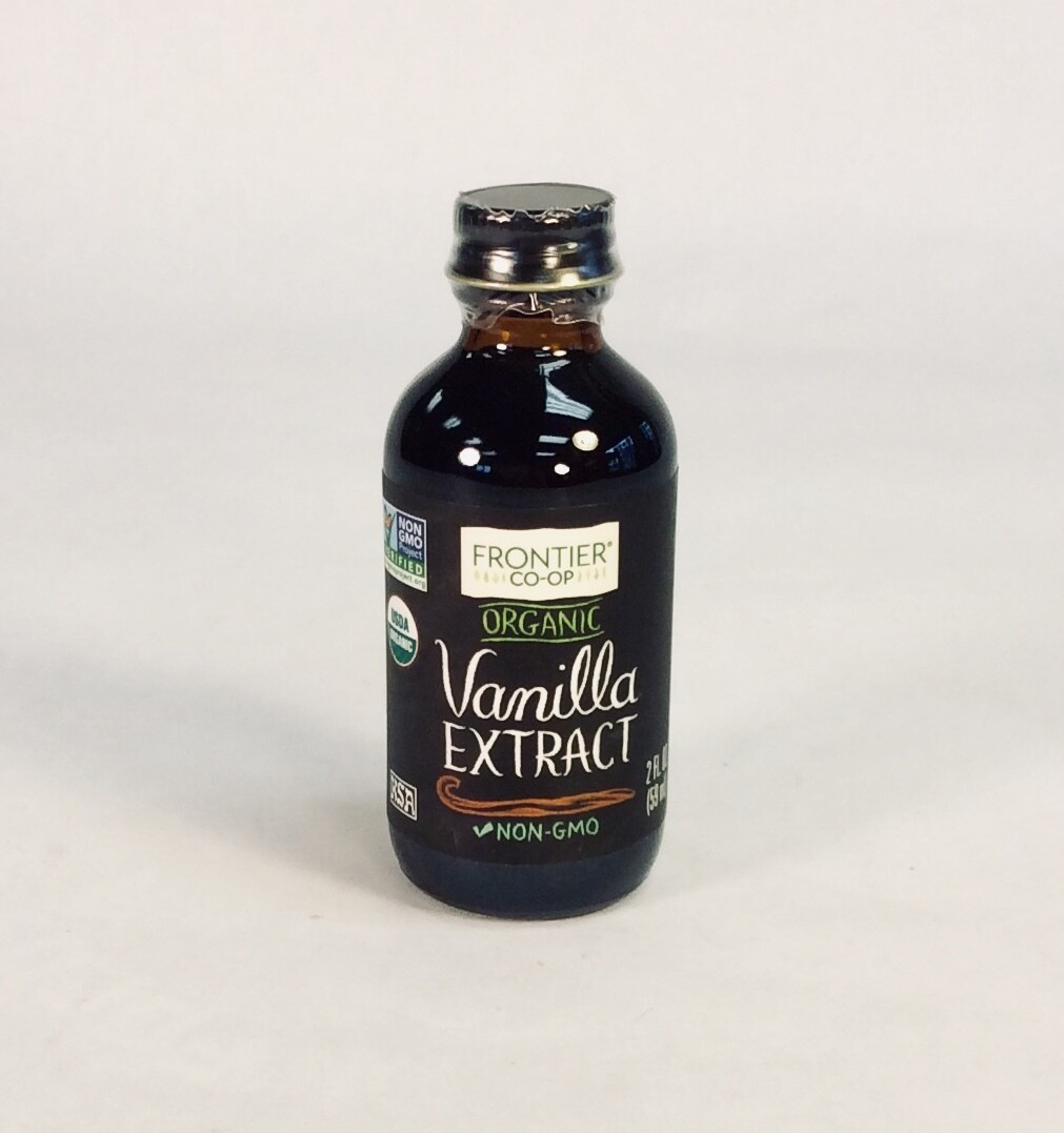 extract, vanilla, organic, 2 ounce, each; Frontier