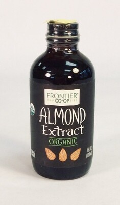extract, almond, organic, 4 oz; each, Frontier