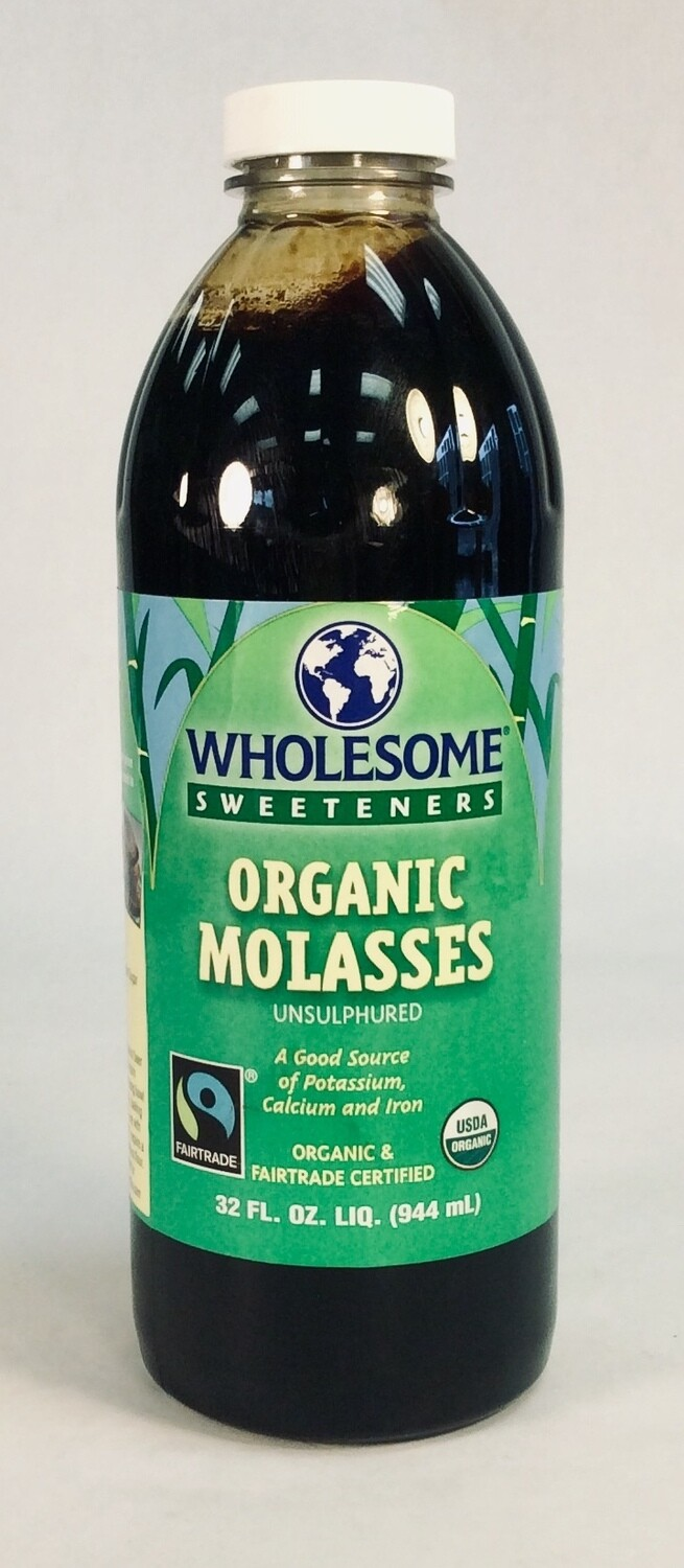 molasses, organic, 32 ounce; each; Wholesome Sweeteners
