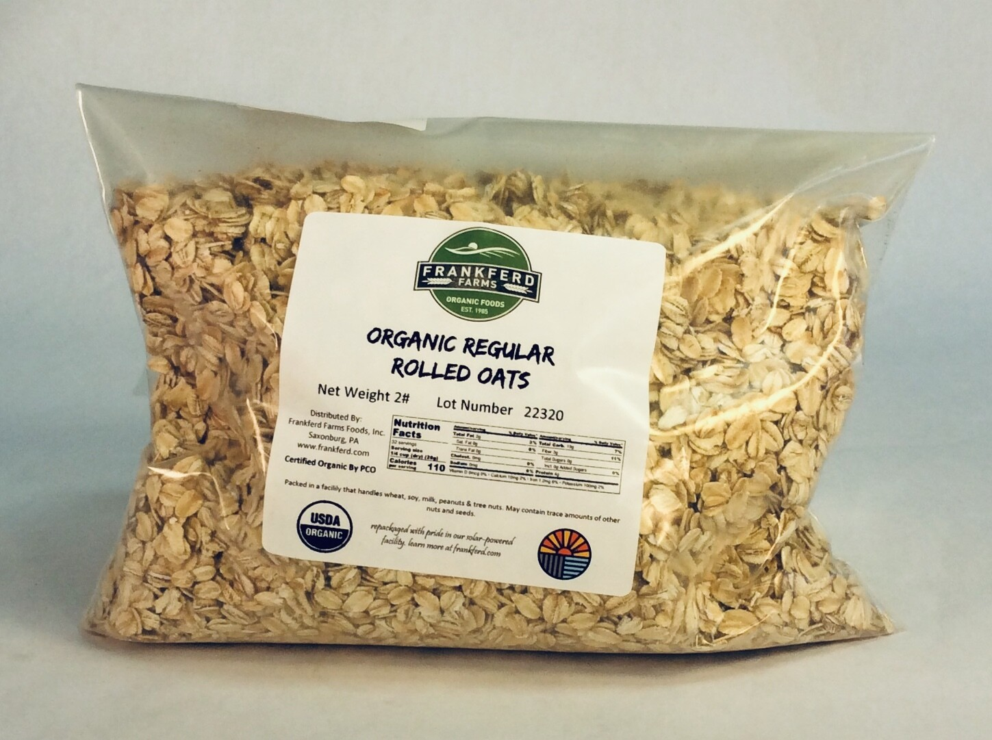 oats, rolled, organic; 2 pounds; Frankferd Farms