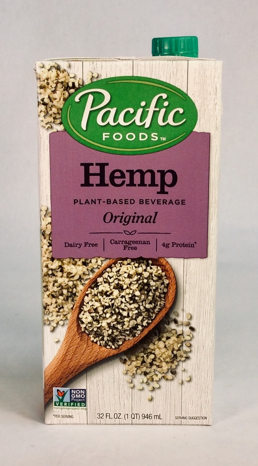 milk, hemp, original; 32oz; Pacific Foods