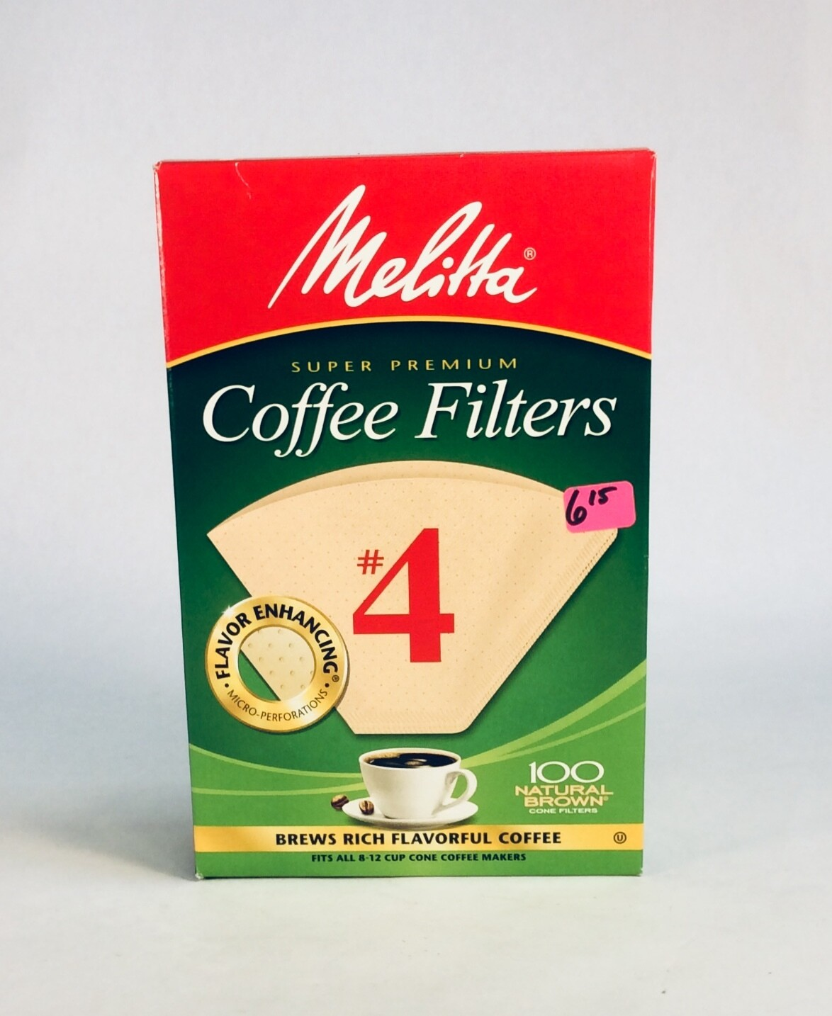 filters, coffee, bamboo #4; each; Melita