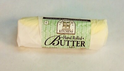 butter, salted, hand rolled; 8oz; Farmhouse Kitchens