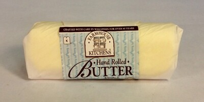 butter, unsalted, hand rolled; 8oz; Farmhouse Kitchens