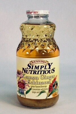 juice, lemon ginger echinacea; each