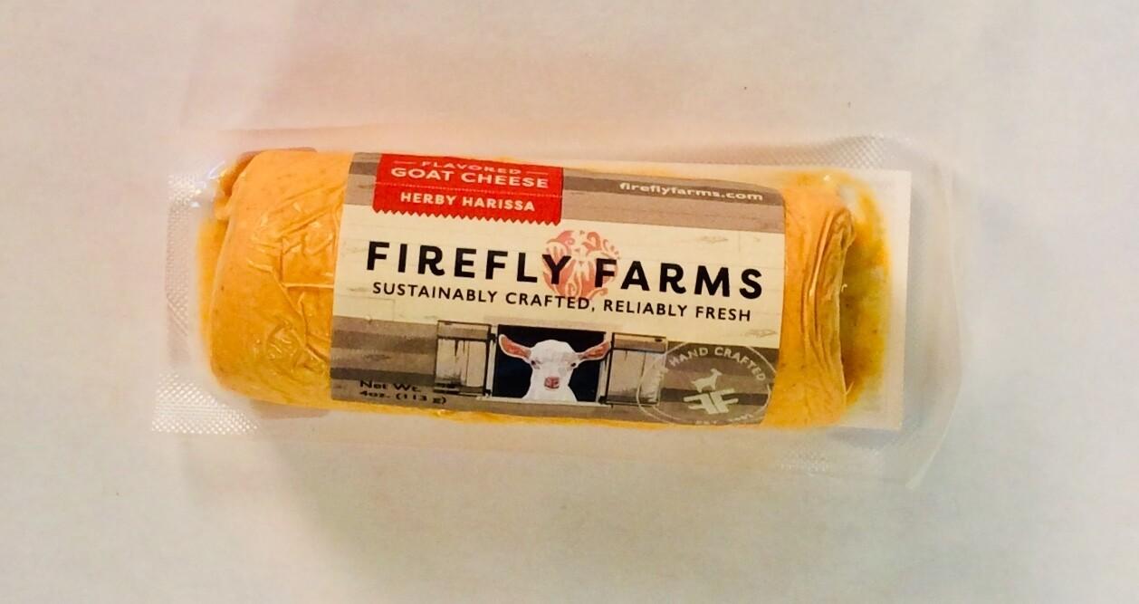 cheese, harissa chevre; 4oz;, mini log; each; Firefly Farm
