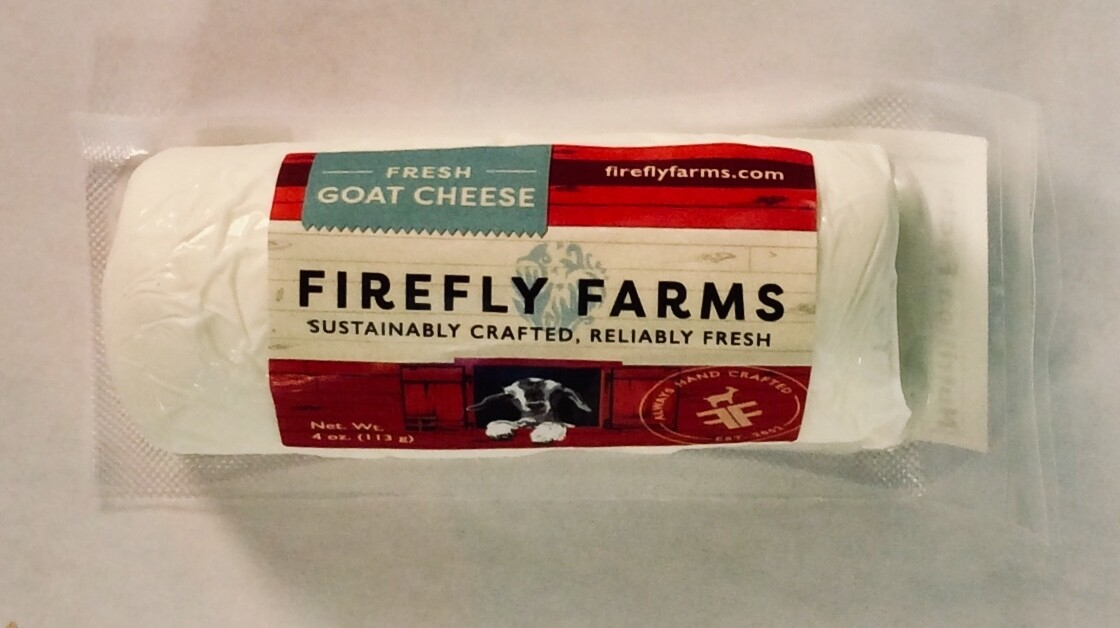 cheese, Allegheney Chevre, 4 oz mini log; each; Firefly Farms