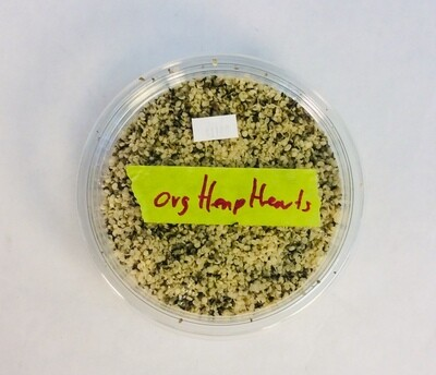 hemp hearts, chopped, organic, 8 oz; each; Highland Market