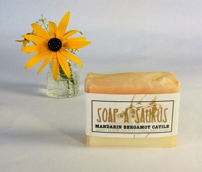 soap, bar, all-natural, handmade, Mandarin Bergamot Castile; Soap-A-Saurus; each
